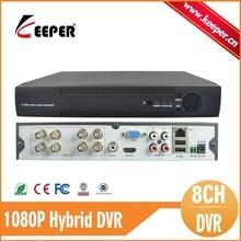 PORTERO Sistema 8CH 1080 P AHD DVR AHD CCTV IPC Cámara analógica DVR NVR AVR 3 IN1 H.264 P2P Seguridad DVR