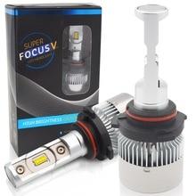 цена на H4 Hi-Lo Beam H7 H8 H9 H11 9005 9006 HB3 HB4 LED Car Headlight Bulbs Conversion Kit 70W 6000lm CSP Chips 6000K Auto Headlamp 12V