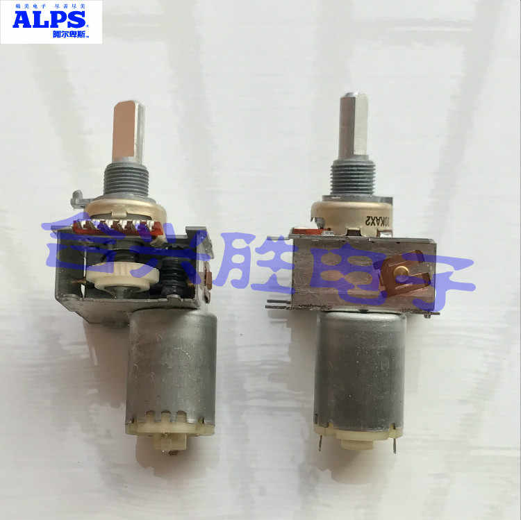 Japanese ALPS Amplifier Sound Volume For Motor Potentiometer Dual A10K*2 Axis Length 20MM Single Row 6 Foot