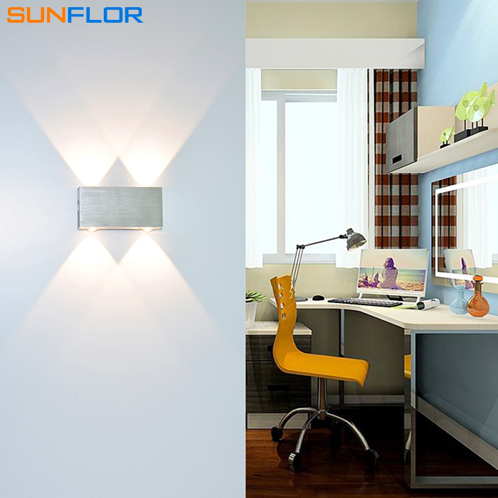 Hot Sale 2W 3W 4W LED Sconce Surface Mounted Indoor LED Wall Lamp Sliver Square Modern