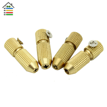 4pcs/Set Brass Small Electric Drill Bit Collet Micro Twist Chuck Set For 2.3mm Motor Shaft for Woodworking Accessories