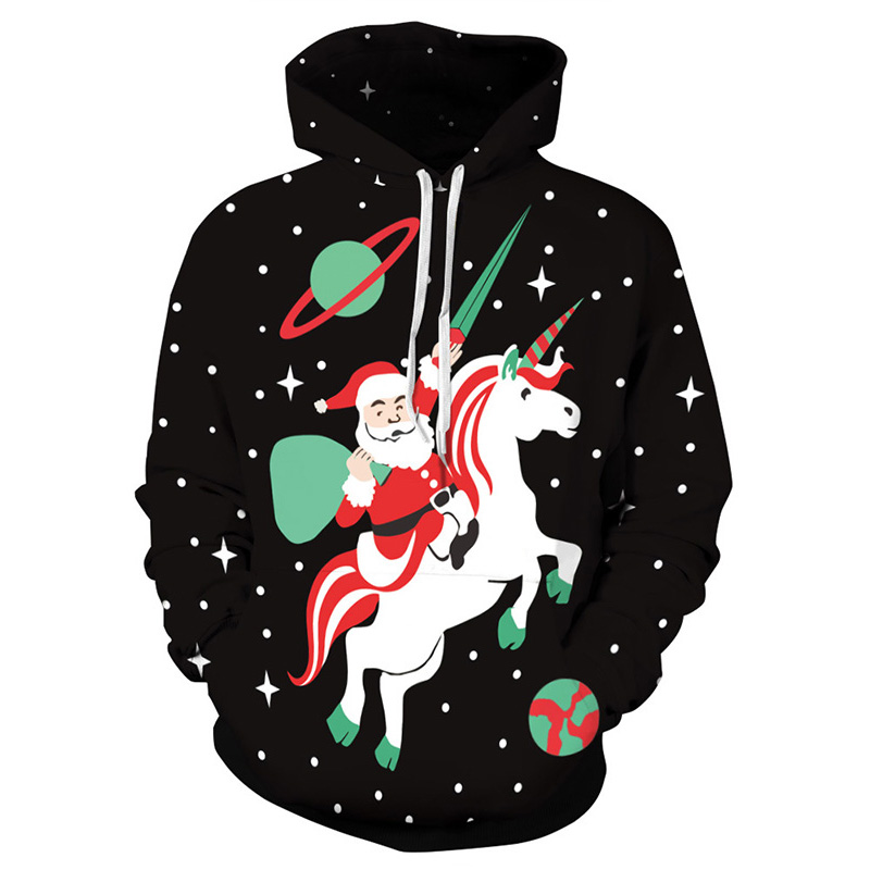 Christmas Kangaroo Cartoon.Us 23 28 33 Off Women Hoodie Christmas Kangaroo Pocket Cartoon Santa Claus Tracksuit Merry Christmas Sweatshirt Pullover Manteau Femme Hiver In