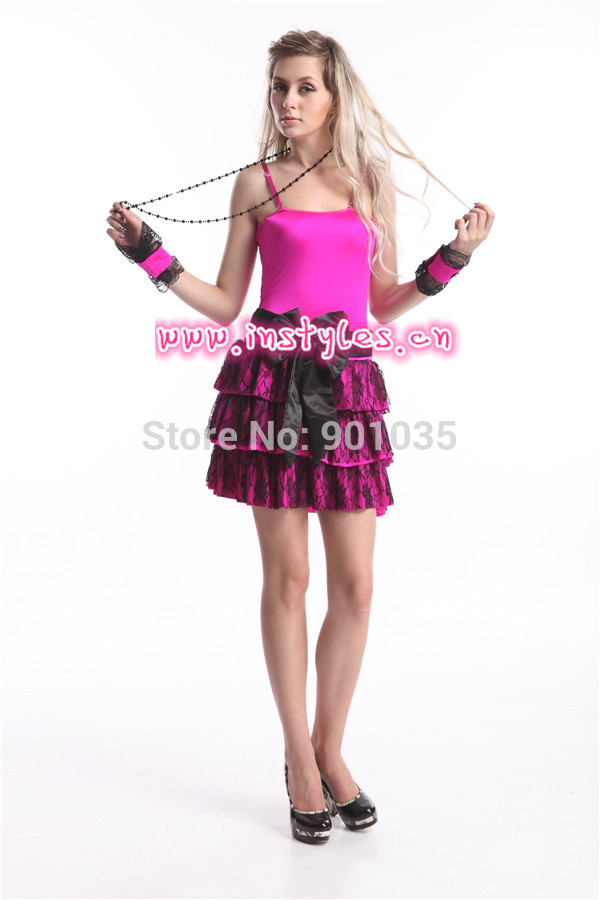 free shipping  New 50s Rock n Roll Party Halloween Fancy Dress Costume full outfits S,M,XL,2XL zy252