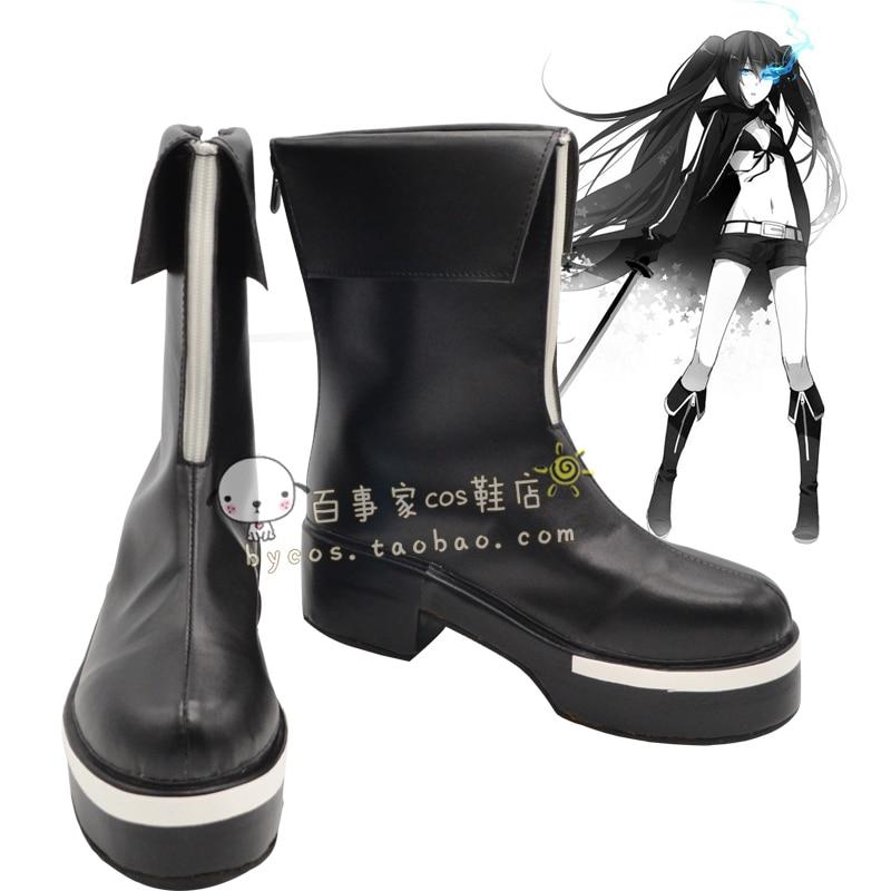 Vocaloid Black Rock Shooter festigkeit EIZELLEN ver Cosplay Stiefel schuhe schuh boot # NC418 Halloween Weihnachten in Vocaloid Black Rock Shooter ...