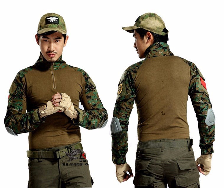 Jungke Digital Camouflage Hunting Uniform Airsoft Camo Suit Military Shirt Pants Paintball Equipment Military Clothing camo suit outdoor game military hunting and shooting accessories tactical camouflage clothing blind for airsoft wildlife photog