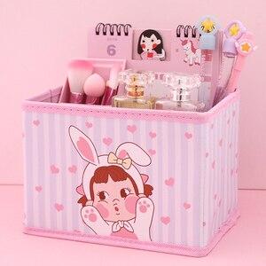 Piękny piękna dziewczyna tkaniny sztuki skrzynka odbiorcza dziewczyna serce pulpit regał Box składany biurowe czyszczenie pudełko i różne