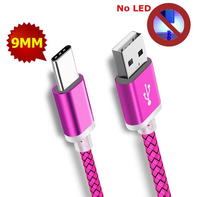 Cable de enchufe de 9mm Extra largo tipo C Cable de cabeza extendida Cable de conector USB-C largo para Blackview para Oukitel móvil teléfono Celular Smartphone