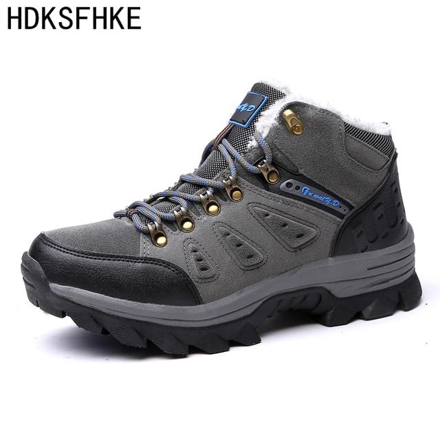 Big Size 36-47 2017 Fashion Men Boots Plush Super Warm men ankle snow Boots rubber Outdoor Winter shoes boots men
