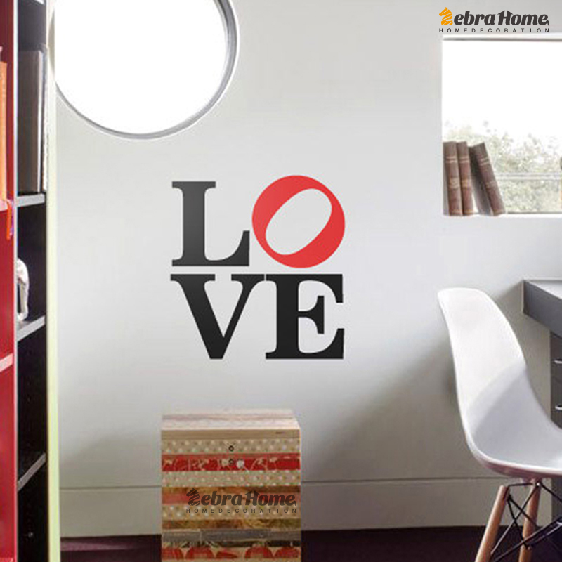 Art Love Word Letter Romantic Wall Decals Stickers For Baby Bedroom Diy Murals Wallpaper For Living Rooms Home Decoration In Wall Stickers From Home