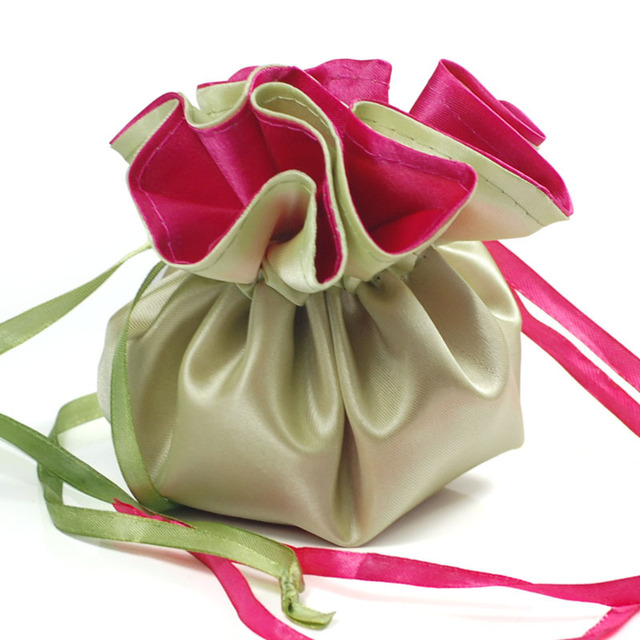 New Free ship! 20pcs/lot Reversible Wedding Candy Favor Bags  NB09