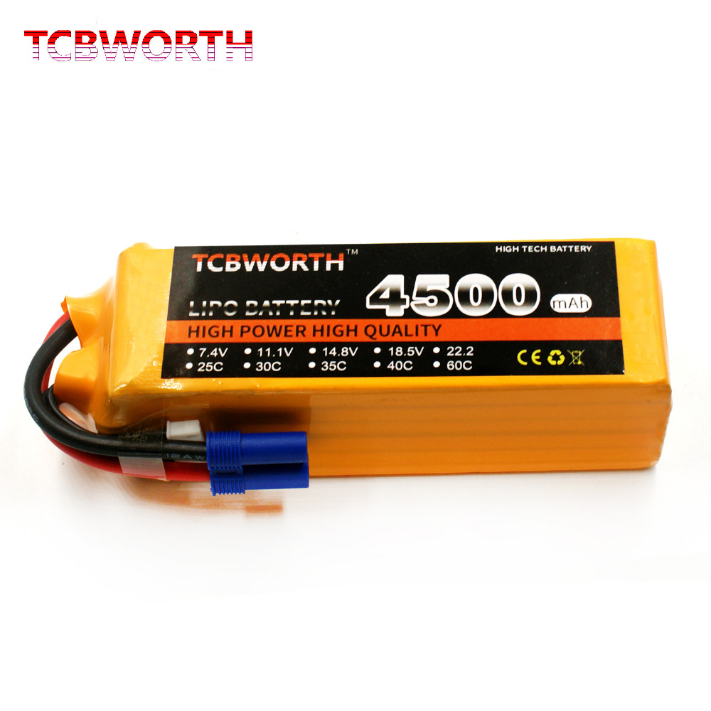 TCBWORTH 22.2V 4500mAh 30C 6S RC Airplane LiPo battery For RC Quadrotor Helicopter Drone AKKU Car Truck Li-ion battery tcbworth 3s 11 1v 1800mah 30c 60c rc lipo battery for rc airplane drone helicopter quadrotor high rate cell rc li ion battery