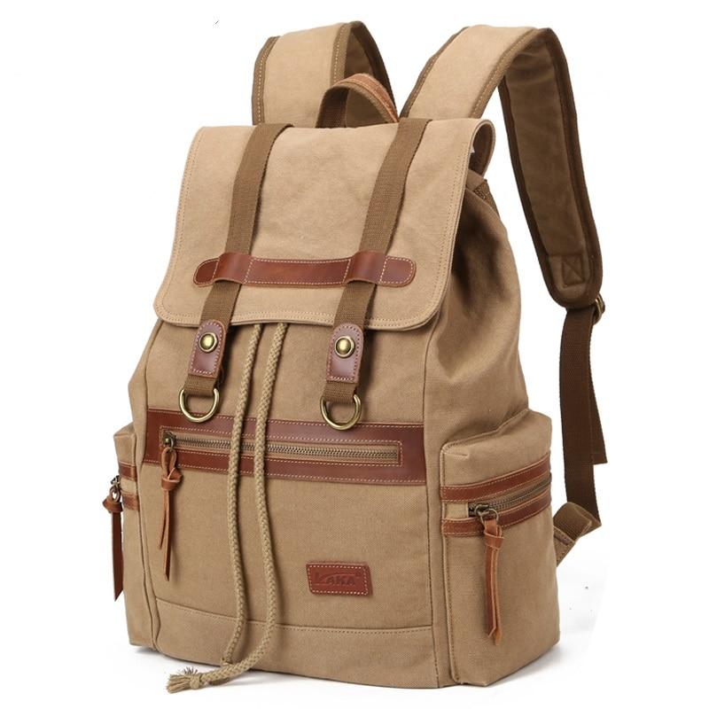 ФОТО K915 new men's canvas shoulder bags man bag computer Europe retro leisure travel backpack
