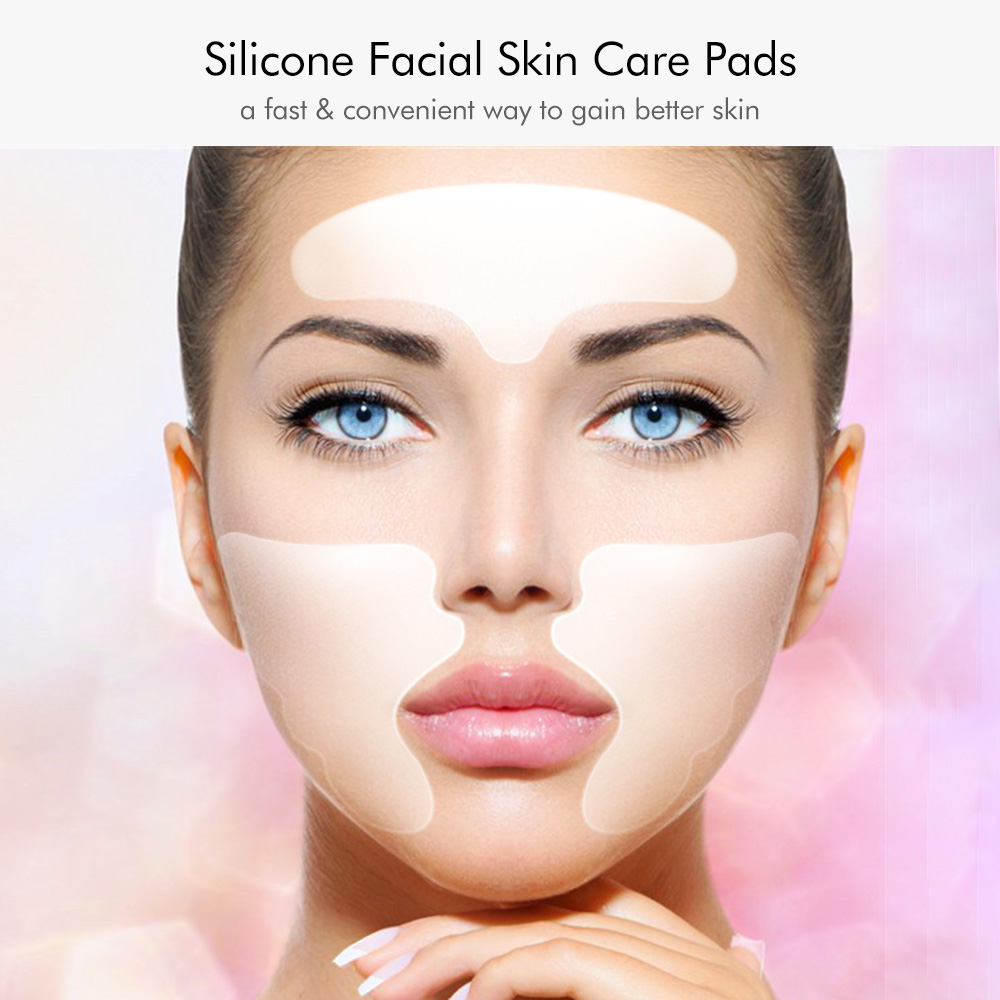 Facial Skin Care Pads Silicone Forehead & Smile Anti-Wrinkle Patches Overnight Smoothing Pads For Wrinkle Treatment