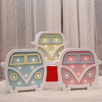 Minions Led Night Light Wooden For Baby Children Kids Gift Cartoon Wall Lamp Bedside Bed Room