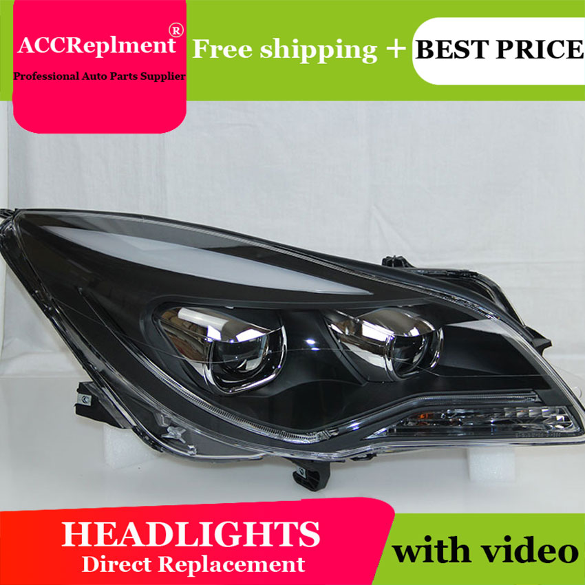 Car Styling LED Head Lamp for Opel Insignia headlights 2014 2015 new arrival led drl H7 hid Bi Xenon Lens low beam