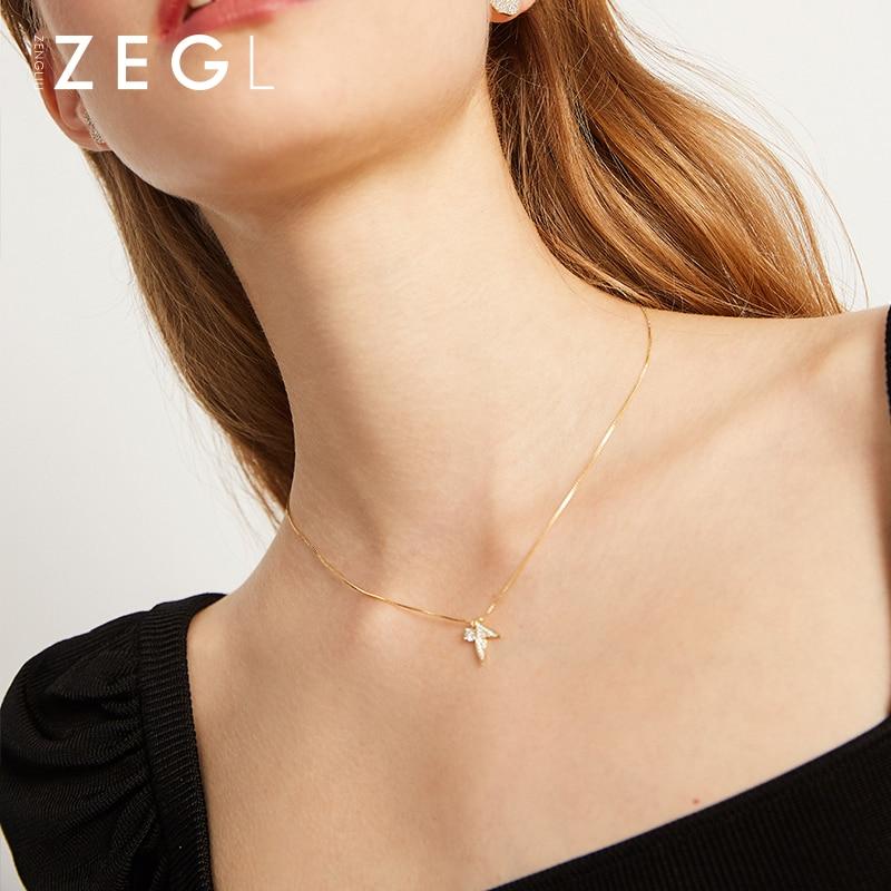 ZEGL 925 argent gros poisson queue de poisson collier tendance collier sirène collier femmes romantique collier