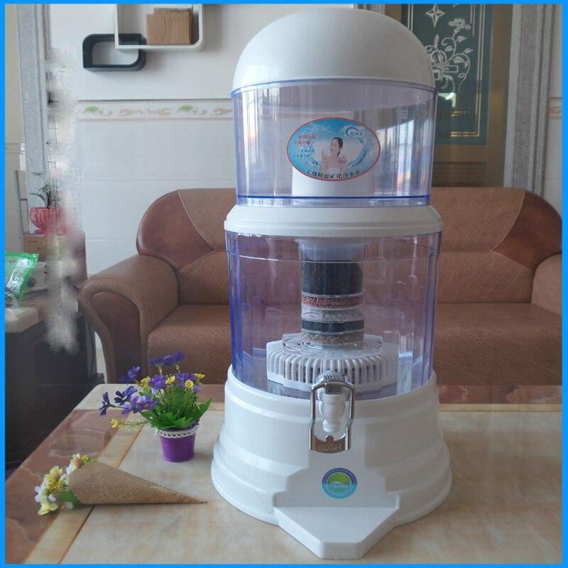 16L Water Filter Barrels Mineral Pot Water Treatment Filter Alkaline Straight Drink Bucket Dispenser Water Purifier