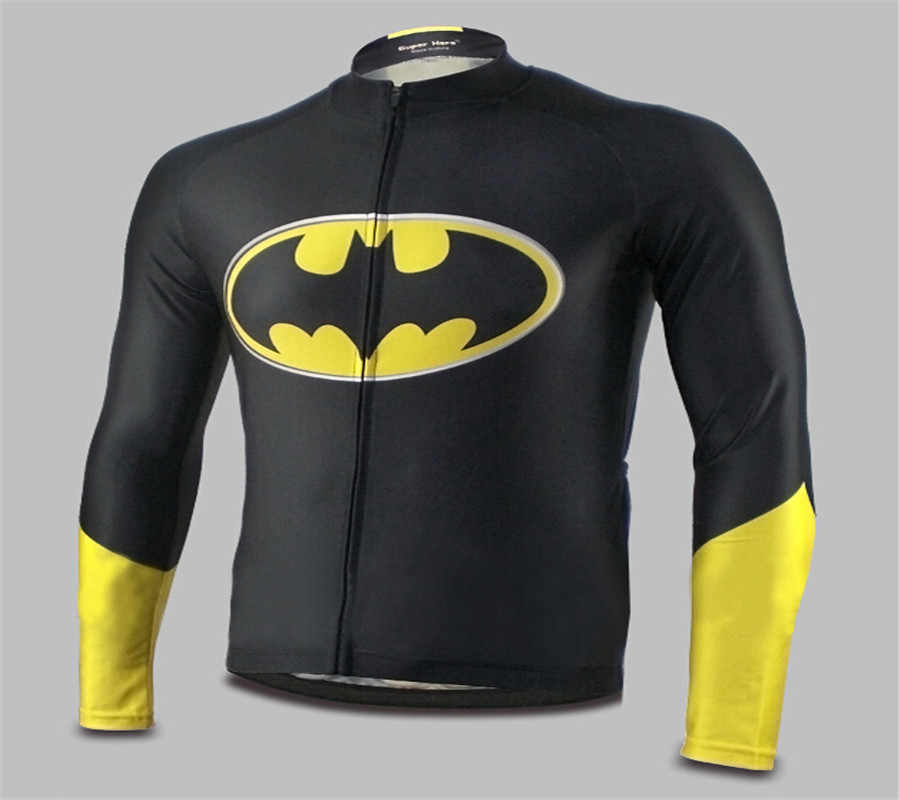 ... Marvel Superhero Batman cycling jersey kits batman bicycle long sleeve Jersey  bike clothing superhero Breathbale Jersey ... 383292b15