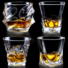 Glass Lead free Crystal Creative Individuality Square Whisky Wine Cup Special shaped Spirit Cocktail Shaped Mug Novelty Travel