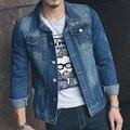 США Европейский Стиль мода Новый дизайн мужчины пальто мужчины пальто куртки мужская Ковбой куртка повседневная Стильный Slim Fit