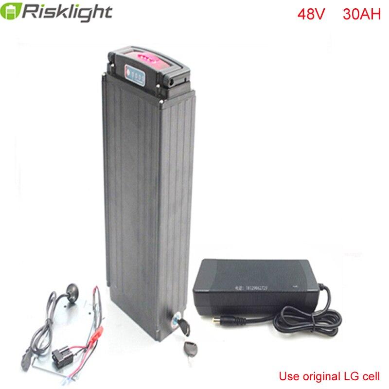 Silber Gepäckträger 48 V 30Ah E-bike-lithium-batterie 48 V 1000 Watt ...