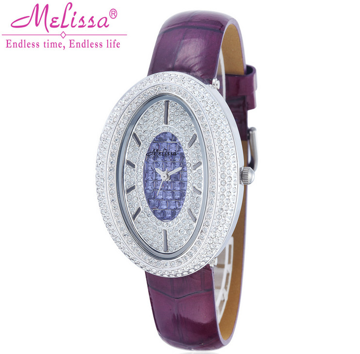 MELISSA Luxury Full Crystals Watches Vintage Palace Designer Women Jewe