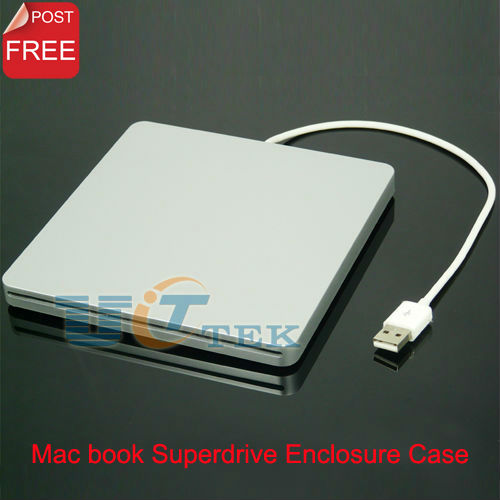 External USB 2.0 Slim Case Enclosure For 12.7mm SATA Slot-in DVDRW Silver