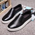 Free shipping new style men shoes breathable flat casual loafers genuine leather men british style men fashion casual shoes