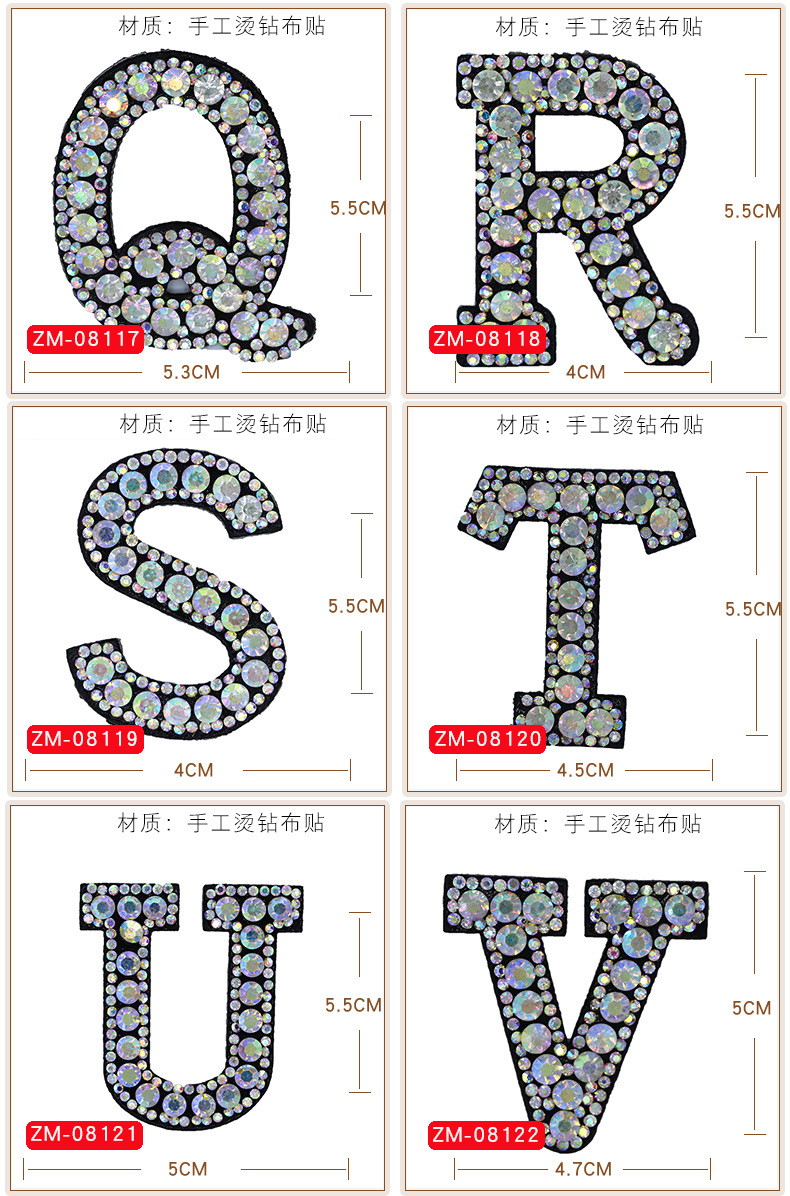 HTB11tFEQQzoK1RjSZFlq6yi4VXaL A-Z 1pcs Rhinestone English Alphabet Letter Applique 3D Iron On letters Patch For Clothing Badge Paste For Clothes Bag Shoes