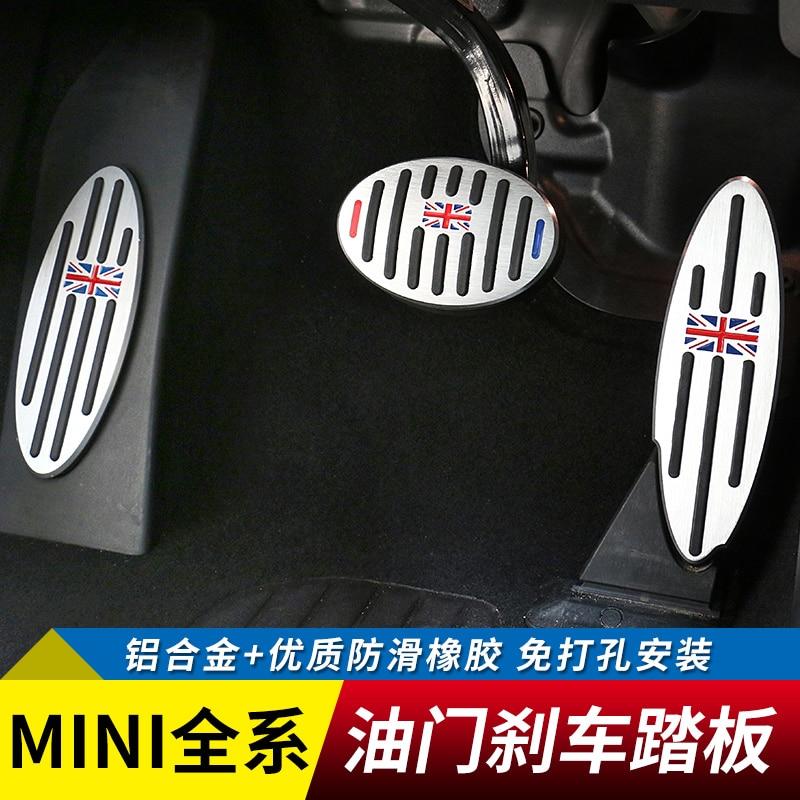 все цены на 2pcs/3pcs Car brake pedal Non-slip aluminum alloy Pedal car stickers car styling for BMW MINI cooper countryman онлайн