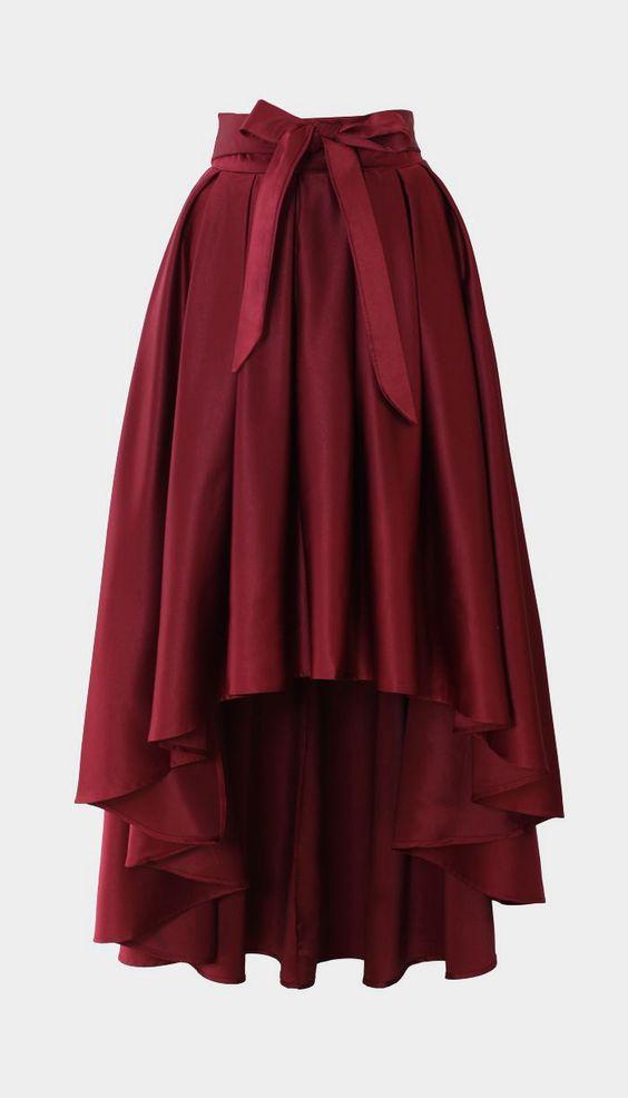 06a7aefadb7 Bowknot Asymmetric Waterfall Skirts Womens Black Autumn Winter Saia Longa  Pleated Plus Size XXS 7XL Vintage Maxi Skirts 2017-in Skirts from Women s  Clothing ...