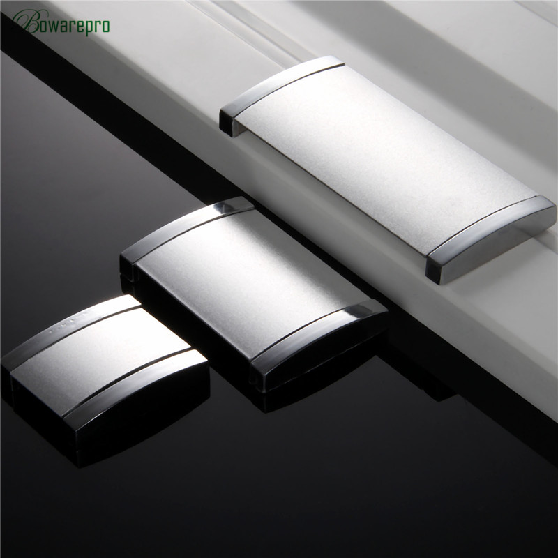 bowarepro Cabinet furniture hidden Recessed Flush Pull aluminum concealed handle sand silver window handle sliding door knob 1/p