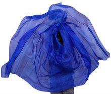 Silk Belly Dance Veil Belly Dance Veil Shawl Scarf Royal Blue Solid Colour Belly Dance Practice Performance Silk Veils 250*114cm