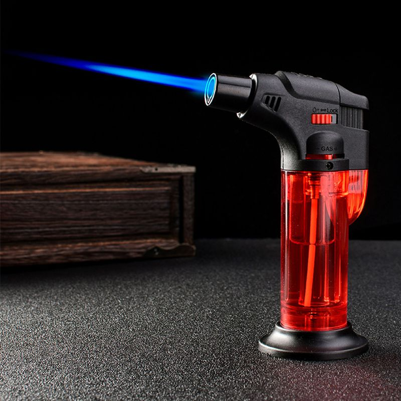 Torch Butane Jet Lighter Chef Cooking Torch Refillable Adjustable Flame Lighter BBQ Ignition Spray Picnic Kitchen Tools Portable