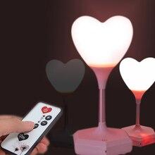 Светодиодная Usb зарядка, декоративный светильник, ночник, дистанционный, новинка, для детей, 3D, любящее сердце, атмосферный светильник, прикроватный, подарок для девочек, сенсорный, blub