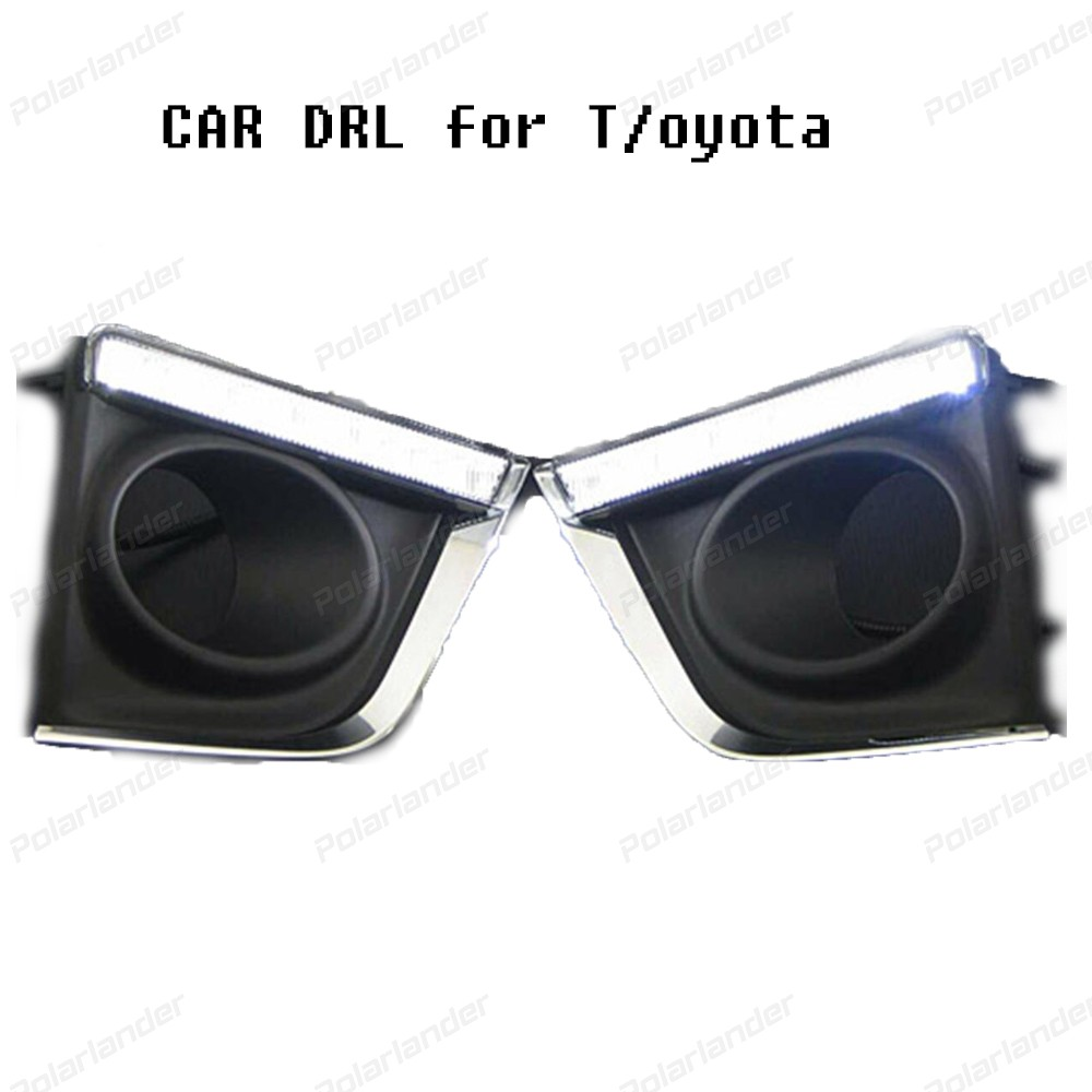 Car Accessories Styling for T/oyota C/orolla Altis 2014-2015 LED DRL Daytime Running Light Headlights daylight drl
