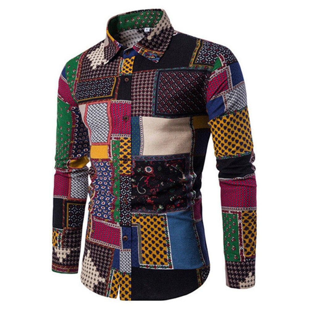 Aliexpress Com Buy Golden Leopard Print Men Shirt 2019 New Autumn