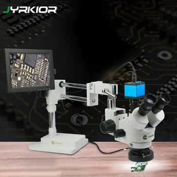 Jyrkior Sunshine SZM45T-STL2 Universal Bracket 7X~45X Continuous Zoom Trinocular Stereo Microscope For Mobile Phone Repair Tool - DISCOUNT ITEM  0% OFF All Category