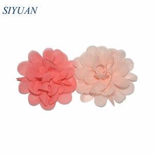 Image 5 - 300pcs/lot 20 Color U Pick 2 Inch Small Chiffon Petals Flowers Flat Back DIY Craft Wedding Decoration Wholesale Supply TH50