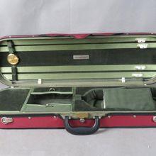 Деревянный чехол для скрипки, твердый красный цвет деревянный чехол для скрипки 4/4, с 4 держателями для лука