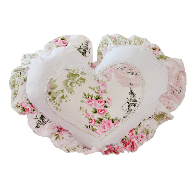 Fadfay New Arrival Romantic Pink Floral Throw Pillows Candy Heart