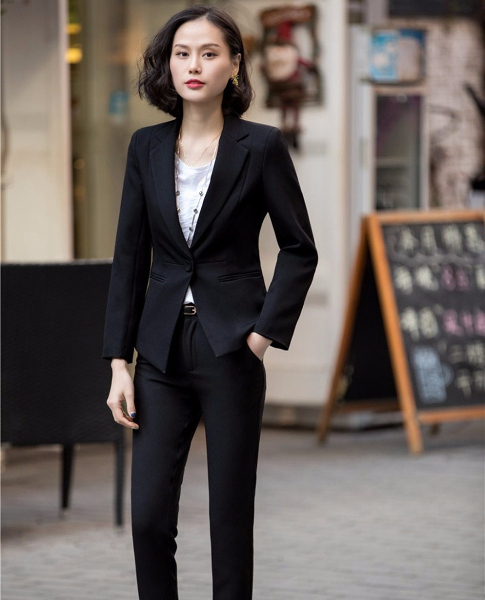Suits & Sets Custom Royal Blue Work Bussiness Formal Elegant Women Suit Set Blazers Pants Office Suits Ladies Pants Suits Trouser Suit Vivid And Great In Style Back To Search Resultswomen's Clothing