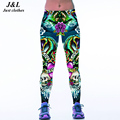 Fashion 3D Leggings Women Sexy New Sporting Fitness Pants Dragon And Skull Digital Print Elastic Skinny Workout Legging Leggins