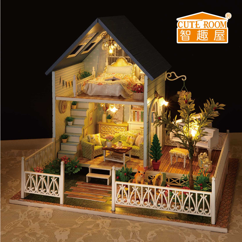 Home Decoration Crafts DIY Doll House Doll Doll Houses Miniature DIY - Anak patung dan aksesori - Foto 6