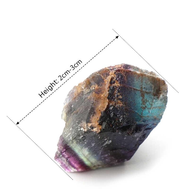 ธรรมชาติที่มีสีสัน Fluorite คริสตัลลาย Fluorite 1.5-65 ซม.คริสตัลควอตซ์คริสตัลหิน Healing Wand Treatment หิน