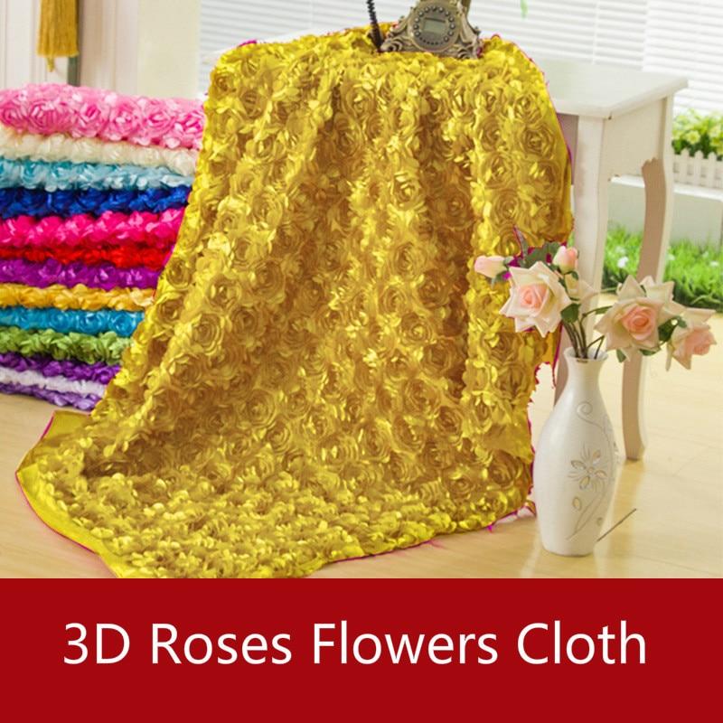 Wholesale 100*150cm 3d Roses Flowers Fabric Cloth ...