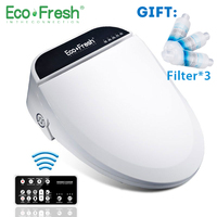Ecofresh Smart toilet seat Washlet Elongate Electric Bidet cover heat sits led light integrated children baby traing chair