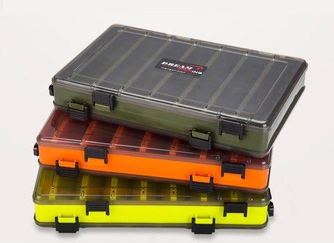 caixa isca de pesca multifuncional single double side caixa de armazenamento caixa de acessorios de