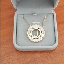 Горячая Распродажа, оригинальное CZ ожерелье, топ с индивидуальным рисунком, качественное ожерелье с буквами для женщин, аксессуары для девушек, Лучшие вечерние ювелирные изделия для свадьбы