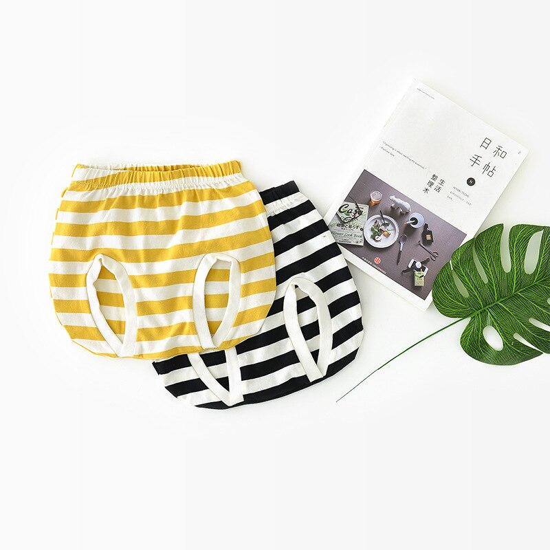 2018 בנות קיד בני אופנה טהור צבע הכותנה מכנסיים Bottoms פעוטות הקיץ סרוג הפסים PP התחתונים 1-4 T זרוק משלוח